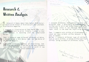 2.Research & Written Analysis